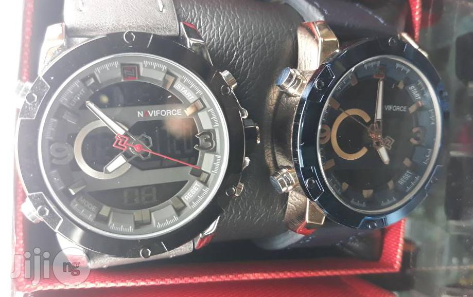 Naviforce Leather Wrist Watch | Watches for sale in Lagos Island (Eko), Lagos State, Nigeria