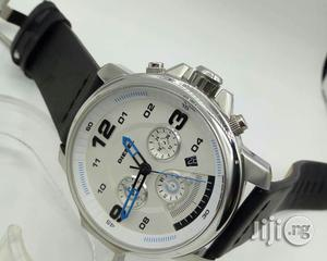 Diesel Chronograph Silver Leather Strap Watch | Watches for sale in Lagos State, Lagos Island (Eko)
