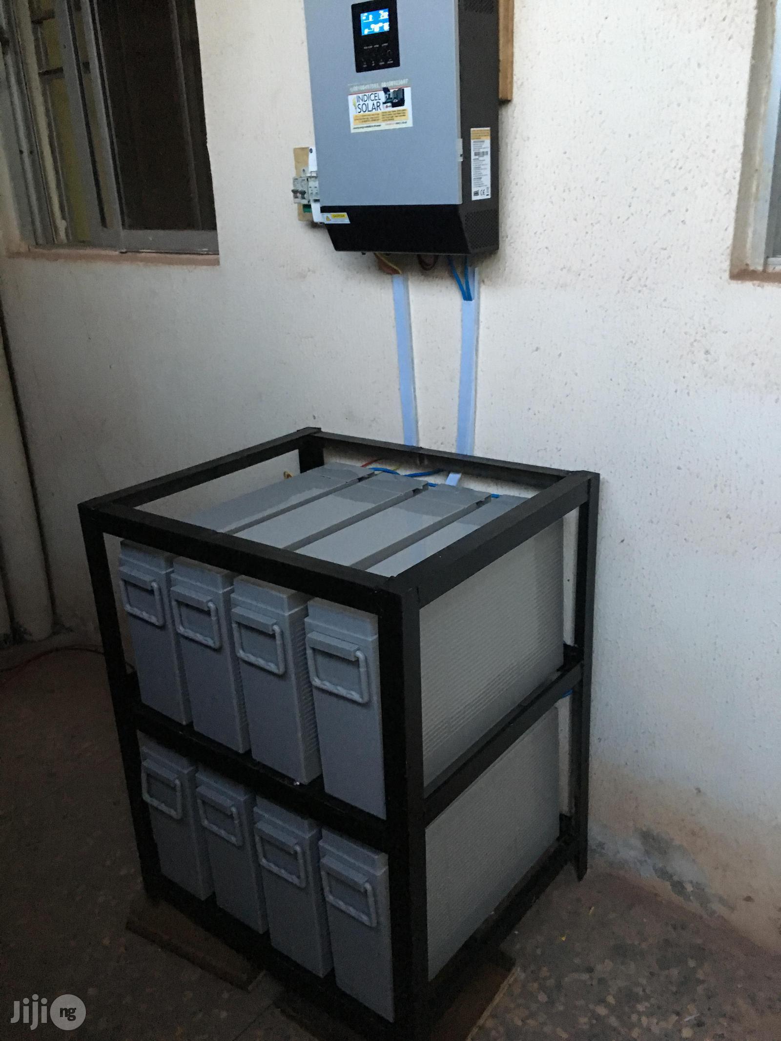 5KVA Hybrid Solar Installation With 12V/200ah Batteries