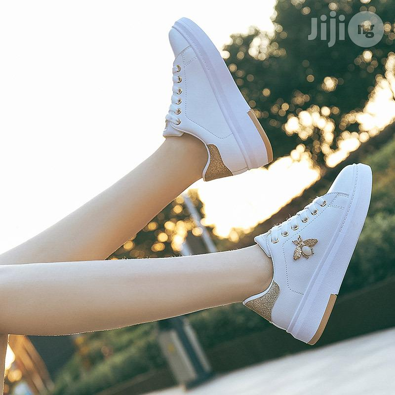 Beautiful Sneakers/Canvas Student Butterfly Lace White Shoe