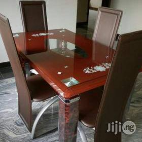 Lovely Dining Table by Four Seater | Furniture for sale in Lagos State, Ajah