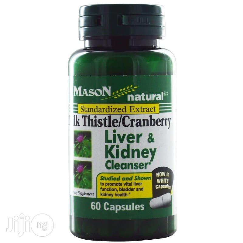 Mason Natural, Milk Thistle/Cranberry, Liver Kidney Cleanser