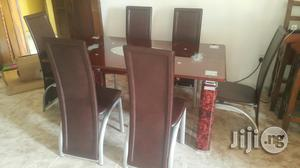 Brand New Imported Glass Dining Table With Six Chairs | Furniture for sale in Lagos State, Ikorodu