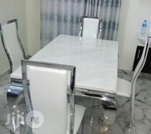 Newly Imported 4-Seater Marble Dining Table