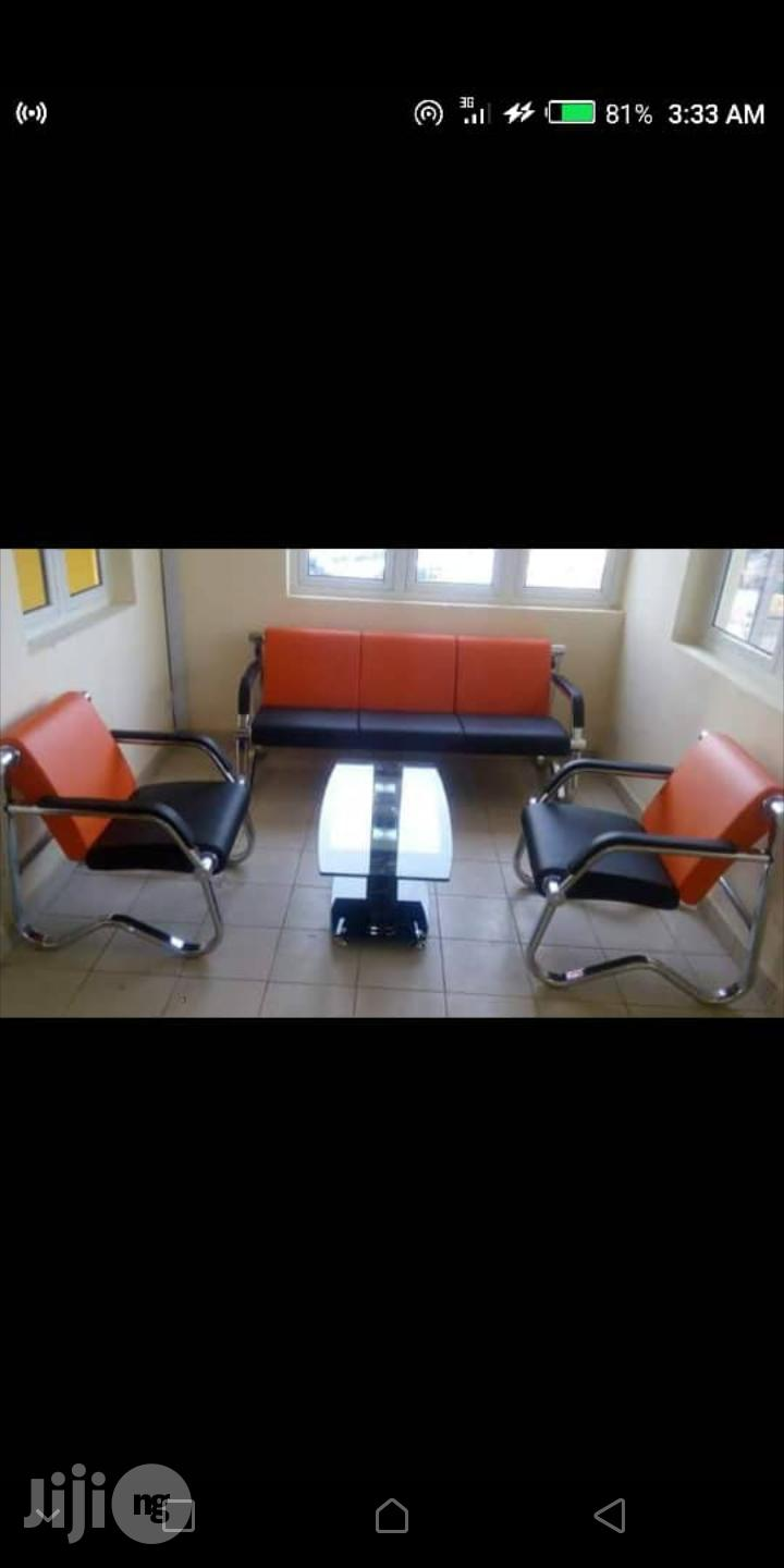 High Quality Sofa Chairs by 5 Seaters Orange and Black
