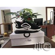 Nike Air Max 720 Man Running Sneakers Black White Stripes   Shoes for sale in Lagos State, Lagos Island