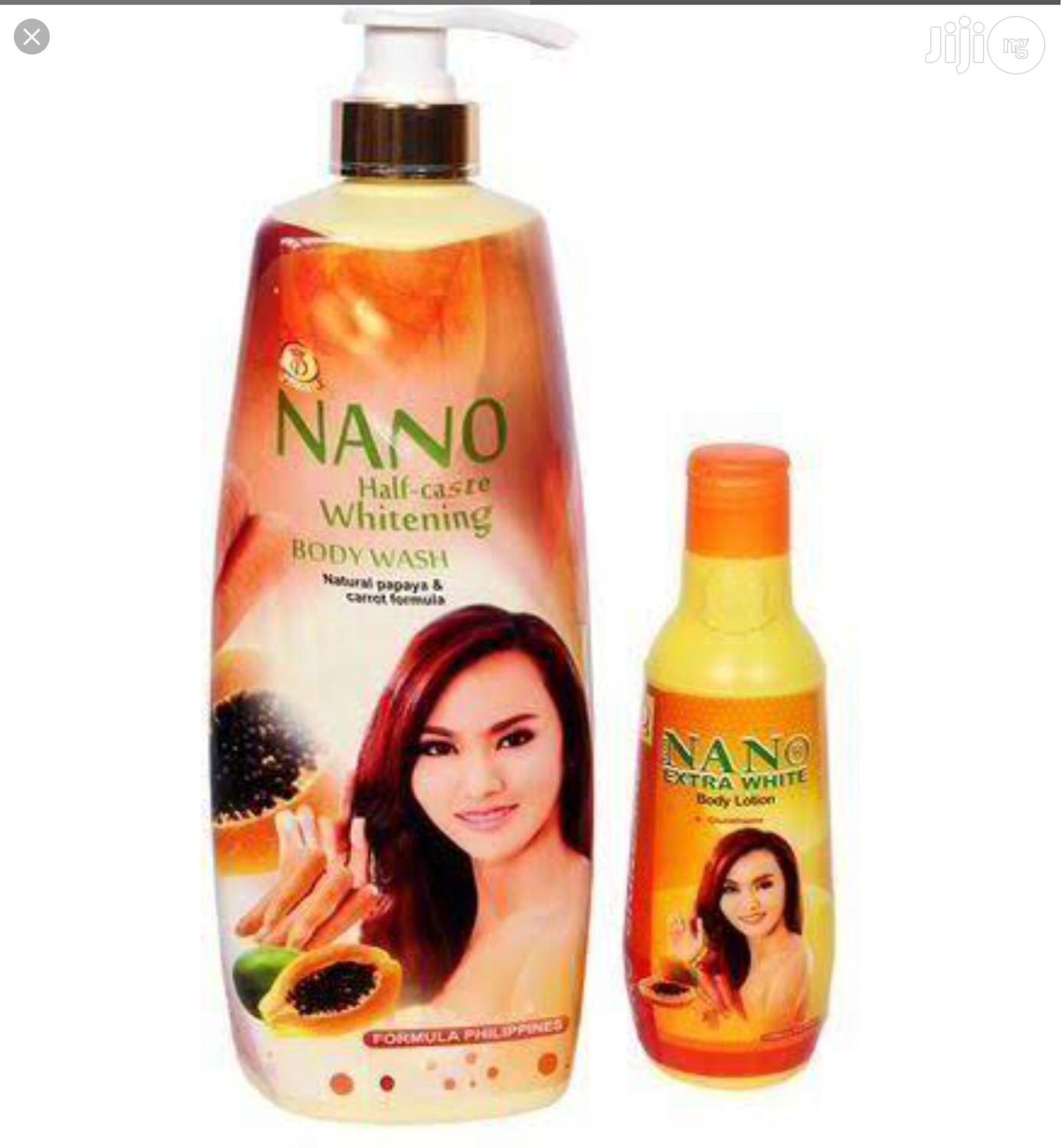 Archive: Nano Half-Caste Whitening Body Lotion and Bath Gel