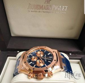 AUDEMARS Piguet Chronograph Genuine Leather Strap Quality Watch | Watches for sale in Lagos State, Surulere