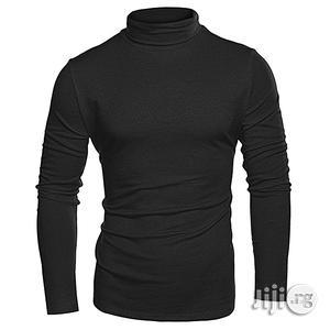 Men Men Turtleneck Plain T-shirt - Black   Clothing for sale in Lagos State, Ikorodu