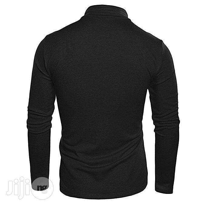 Men Men Turtleneck Plain T-shirt - Black   Clothing for sale in Ikorodu, Lagos State, Nigeria