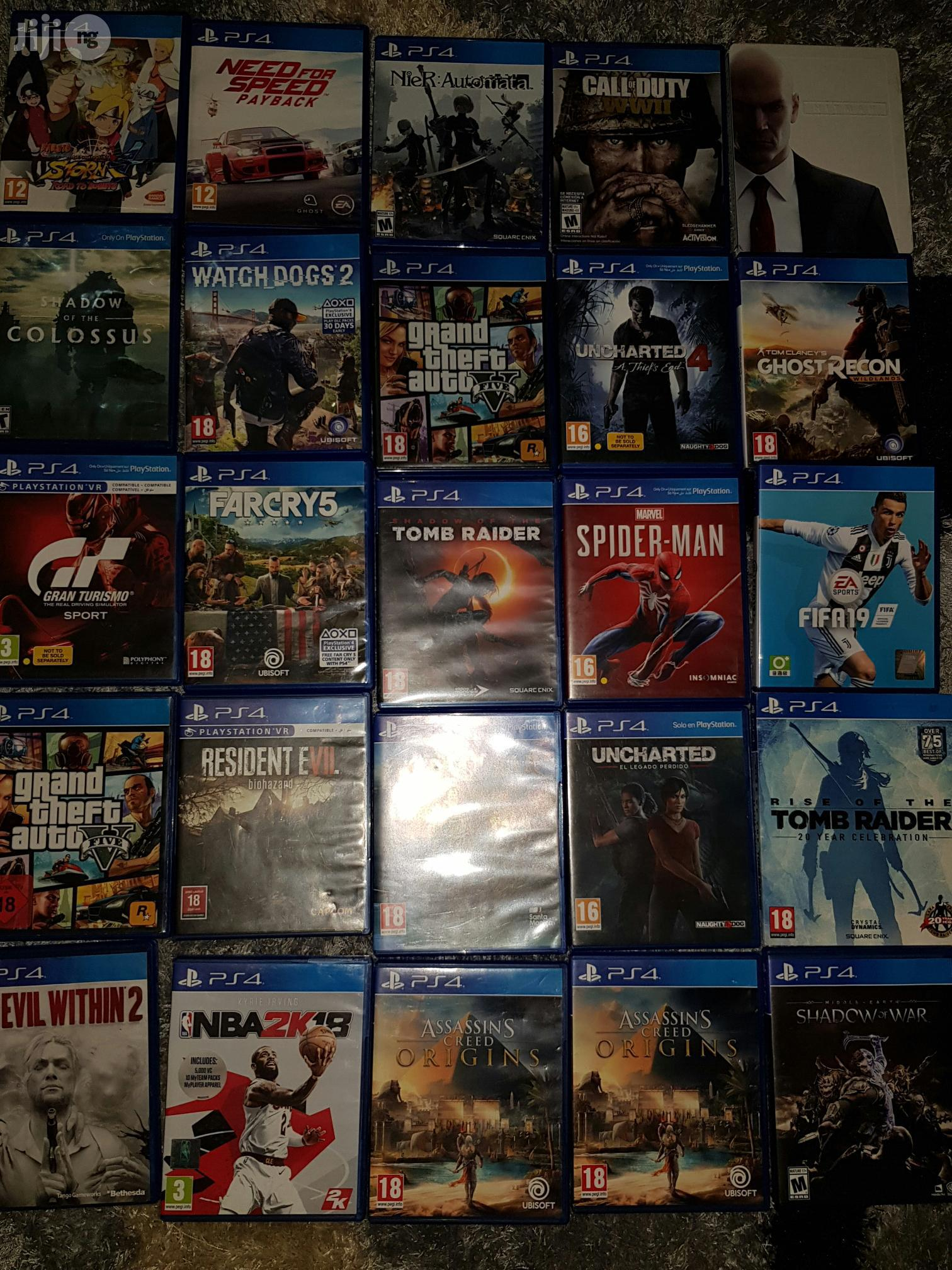 A List Ps4 Playstation 4 Games Selection | Video Games for sale in Ikeja, Lagos State, Nigeria