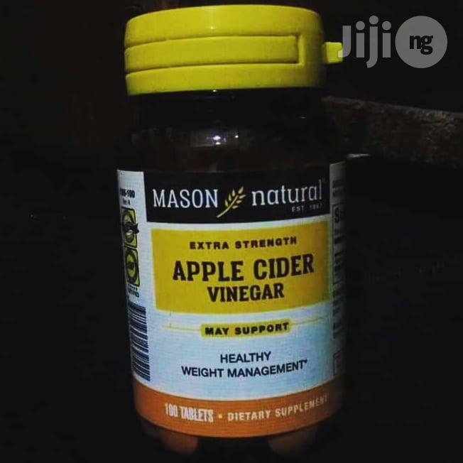 Mason Natural Apple Cider Extra Strength Vinegar 100 Tablets | Vitamins & Supplements for sale in Enugu / Enugu, Enugu State, Nigeria