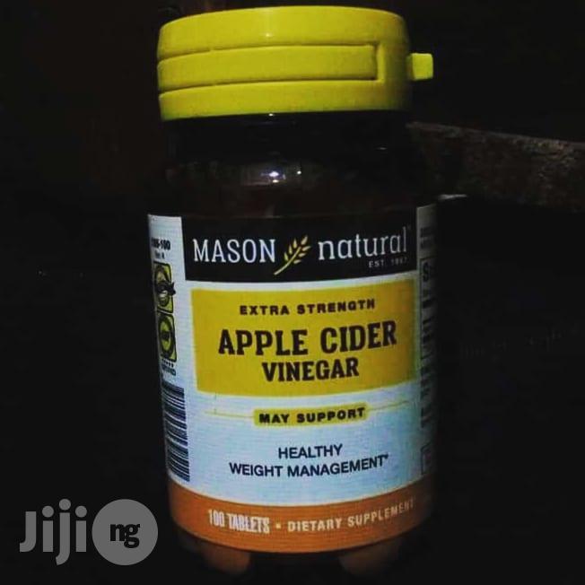 Mason Natural Apple Cider Extra Strength Vinegar Tablets 100 Tablets | Vitamins & Supplements for sale in Enugu / Enugu, Enugu State, Nigeria