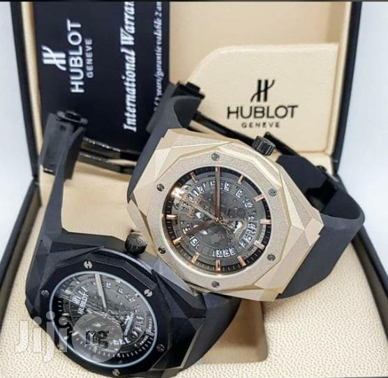 Hublot Skeleton Rubber Strap Wrist Watch