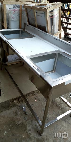 Washing Sink Double Bowl | Restaurant & Catering Equipment for sale in Lagos State, Ojo