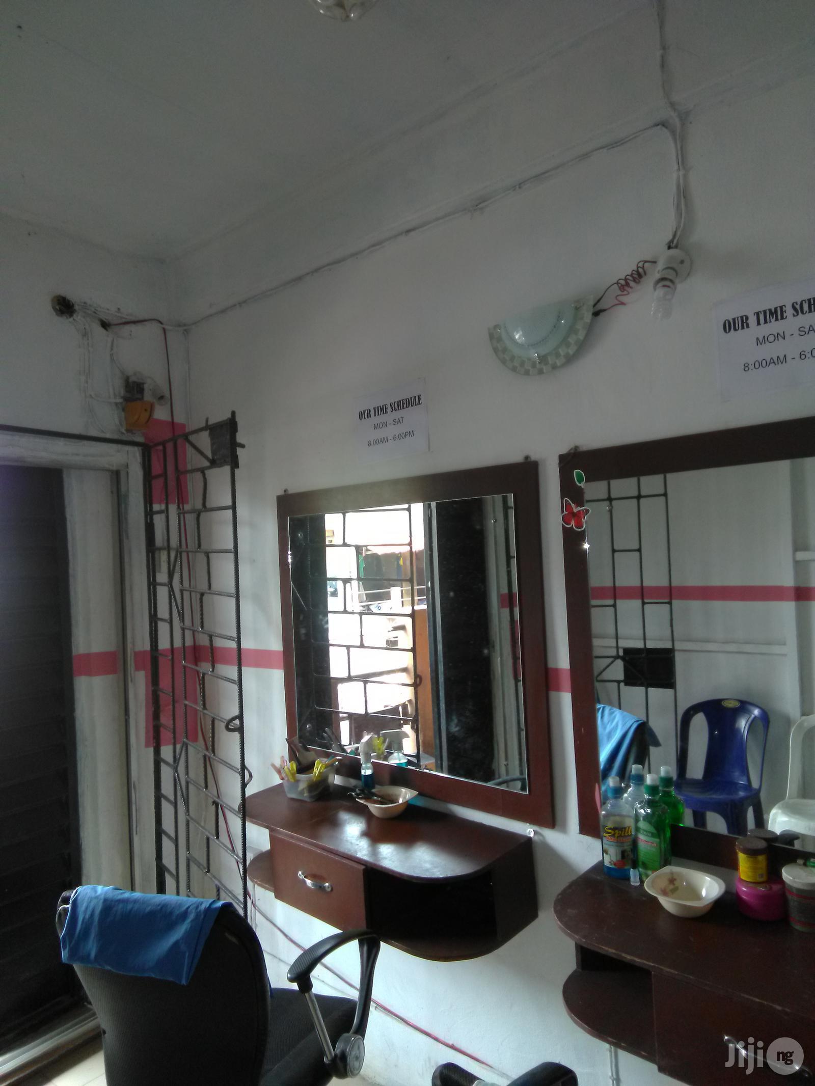 Barbering Shelves And Mirror | Salon Equipment for sale in Ikorodu, Lagos State, Nigeria