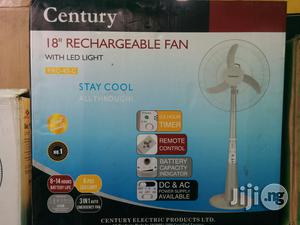 Century Rechargeable Standing Fan 18 Inches 3 Blade   Home Appliances for sale in Lagos State, Mushin