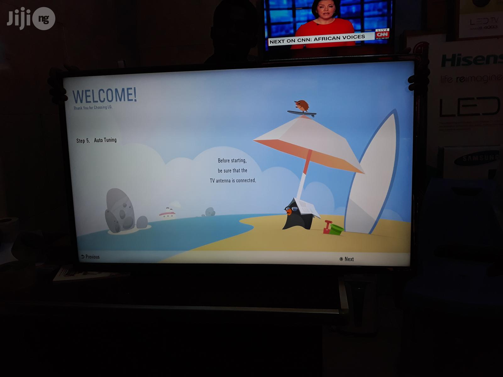 Brand New Lg 43 Inches Led Tv+Free Satellite Stations And 2yrs Warrnty | TV & DVD Equipment for sale in Ojo, Lagos State, Nigeria