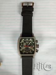 Invicta Men's Black Leather Wristwatch   Watches for sale in Lagos State, Surulere
