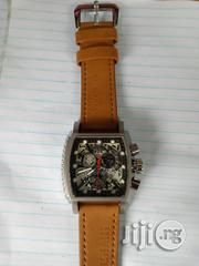 Invicta Men's Brown Leather Wristwatch.   Watches for sale in Lagos State, Surulere