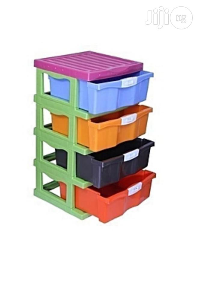 4 Layers Colorful Plastic Baby Wardrobe