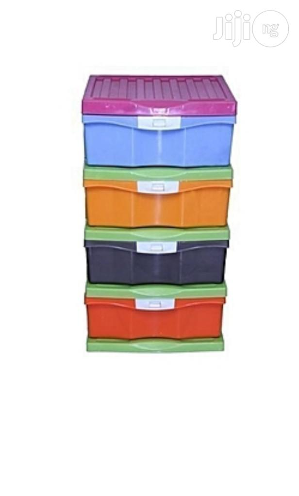 4 Layers Colorful Plastic Baby Wardrobe   Children's Furniture for sale in Gbagada, Lagos State, Nigeria
