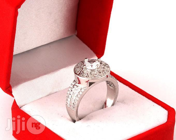 Titanium Silver Engagement Ring