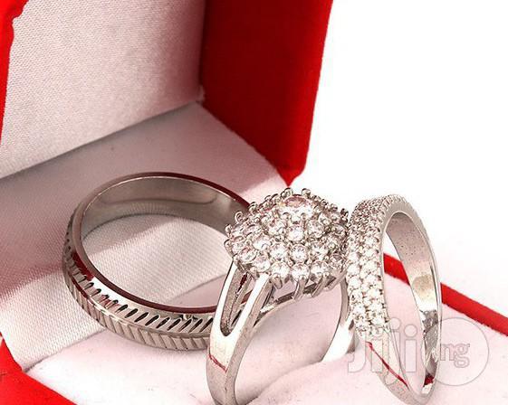 Dutch Design Sterling Silver Wedding Ring Set