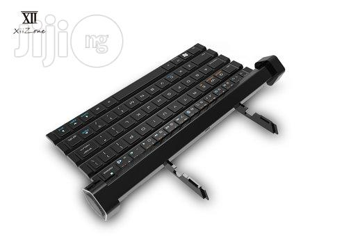 Xii Zone Rollable Keyboard For Smartphone, Tablet With Built In Bluetooth Speaker