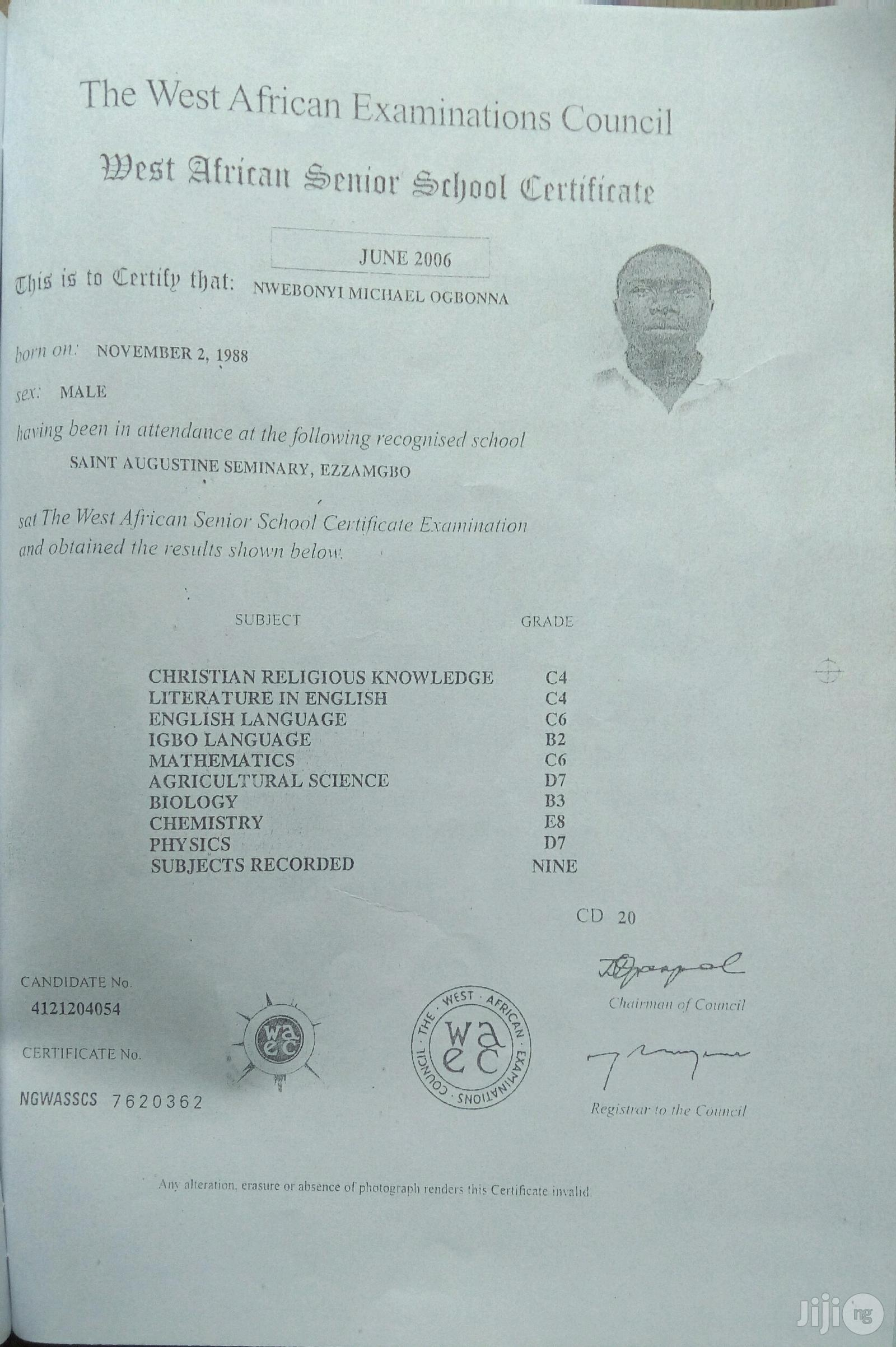 Michael Nwebonyi | Engineering & Architecture CVs for sale in Ikoyi, Lagos State, Nigeria