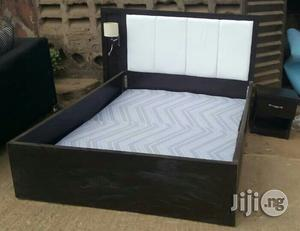 Quality Bed Frames With Attached Bed Lamps (Light) And Bedside Drawers   Furniture for sale in Lagos State