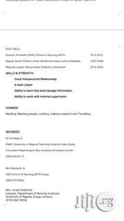 Healthcare & Nursing CV | Healthcare & Nursing CVs for sale in Enugu State, Igbo-Eze North