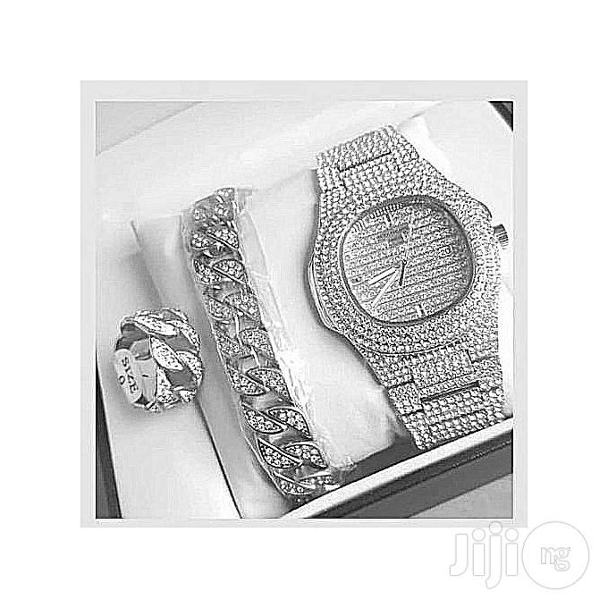 Archive: Fashion Stone Chain Watch,Bangle And Ring