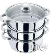 Prima 24 Cm 3-Tier Steamer With Glass Lid, Set of 4 | Kitchen Appliances for sale in Lagos State