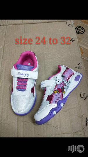 White Cartoon Character Canvas for Girls   Children's Shoes for sale in Lagos State, Lagos Island (Eko)