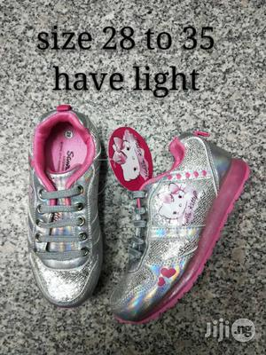 Silver and Pink Light Sneakers | Children's Shoes for sale in Lagos State, Lagos Island (Eko)