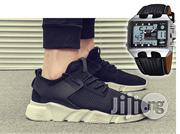 Fashion New Arrival Mesh Breathable Spring/Autumn Casual Shoes -black+Ohsen Watch | Watches for sale in Lagos State