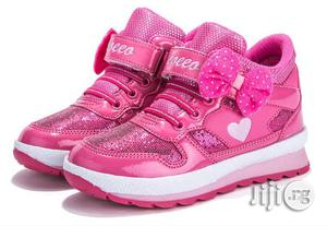 Beautiful Pink Canvas Sneakers for Girls | Children's Shoes for sale in Lagos State, Lagos Island (Eko)