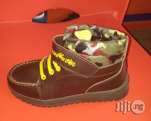 Brown High Top Canvas Sneakers | Children's Shoes for sale in Lagos State, Lagos Island (Eko)