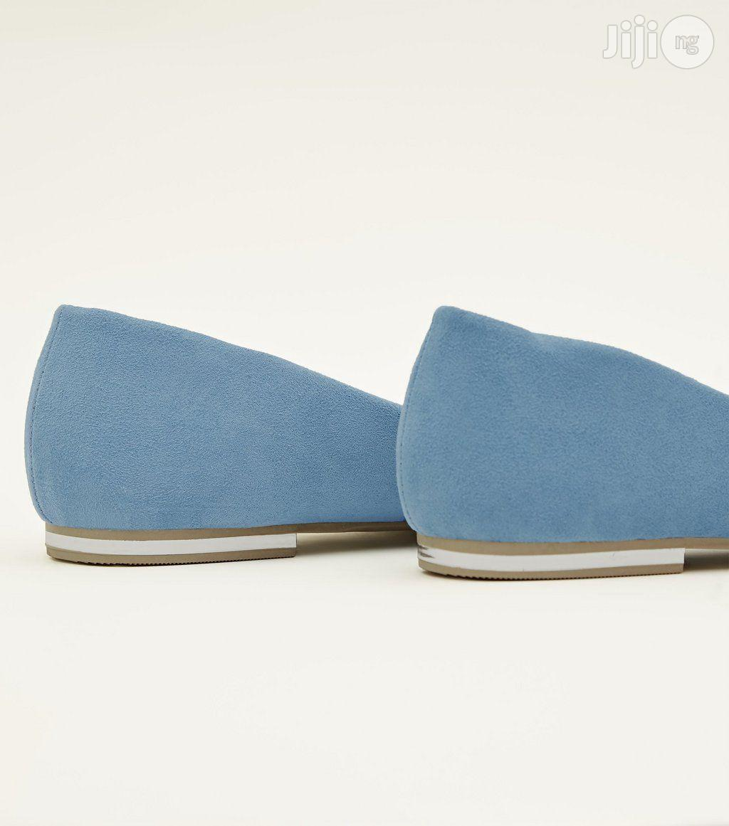 Archive: Newlook Pale Blue Suedette Metal Heel Pointed Pumps