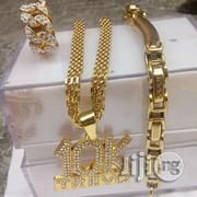 10k Men Chain With Bangle and Ring   Jewelry for sale in Lagos State, Surulere