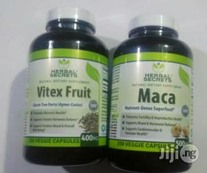 Maca 500mg of 250caps Vitex Chaste Berry 400mg of 250caps | Sexual Wellness for sale in Lagos State, Alimosho
