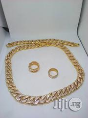Main Original Iced Stones CUBAN Neck & Hand Chain With Ring | Jewelry for sale in Lagos State, Lagos Island