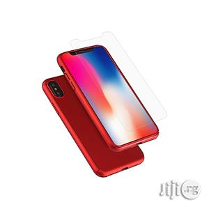 360 Degrees Full Coverage Detachable PC Case With Tempered Glass Film for iPhone XS Max - Red   Accessories for Mobile Phones & Tablets for sale in Lagos State, Ikeja