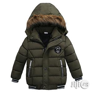Fashion Baby Boy Jackets Winter Warm Thick Hooded Zipper Coat Outwear Clothes   Children's Clothing for sale in Lagos State, Surulere