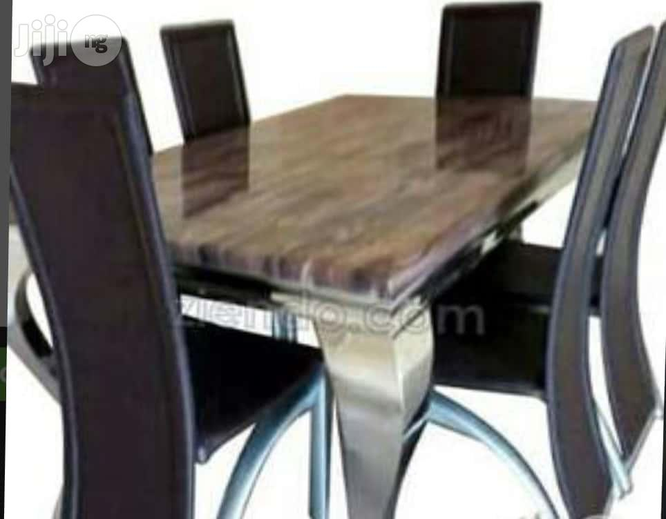 Archive: Imported New 6 Seater Marble Dining Table And Six Strong Chairs