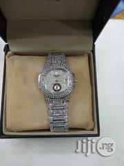 Keep Moving Female Silver Ice Stones Wristwatch. | Watches for sale in Lagos State, Surulere