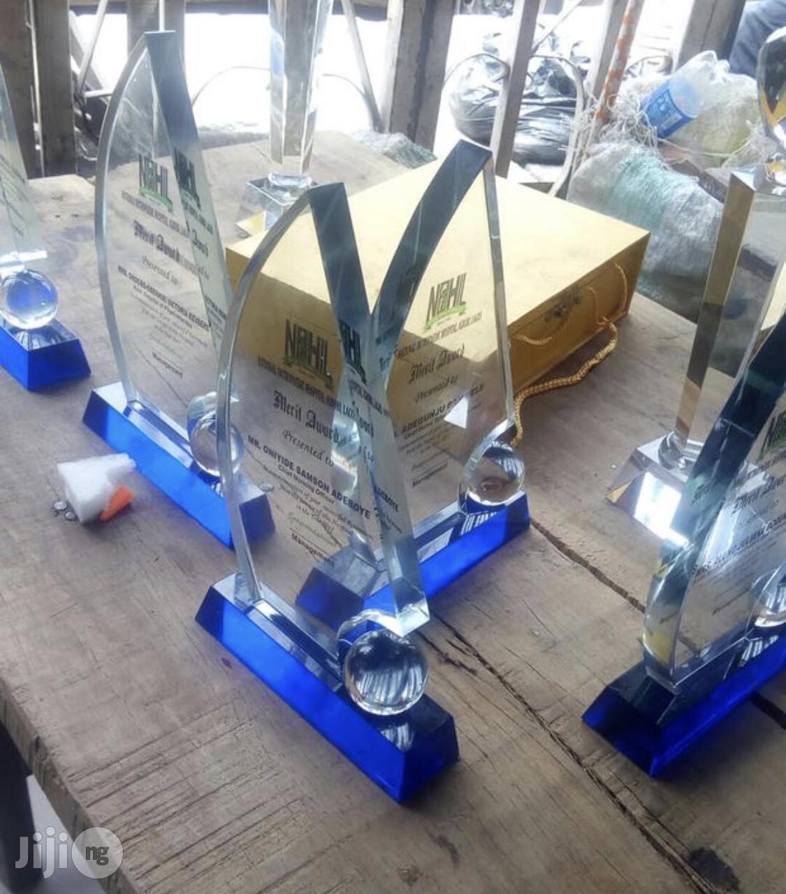 Crystal Award Plaques