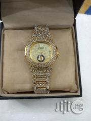 Keep Moving Female Gold Ice Stones Wristwatch | Watches for sale in Lagos State, Surulere
