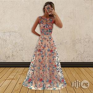 European Women Long Skirt Mesh Embroidery Dress   Clothing for sale in Lagos State, Ikeja